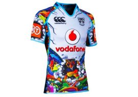 new zealand warriors 2014 under 20s training jersey