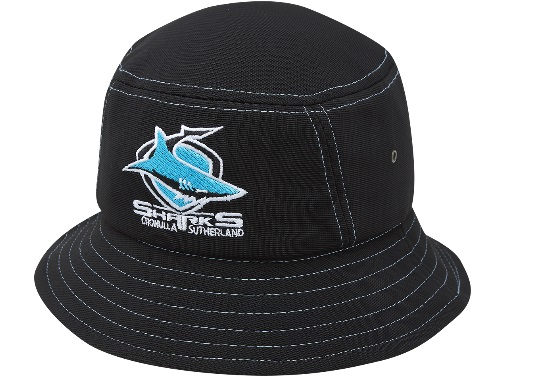 Cronulla Sharks Polyester Bucket Hat – Footy Focus 12d34617b3c