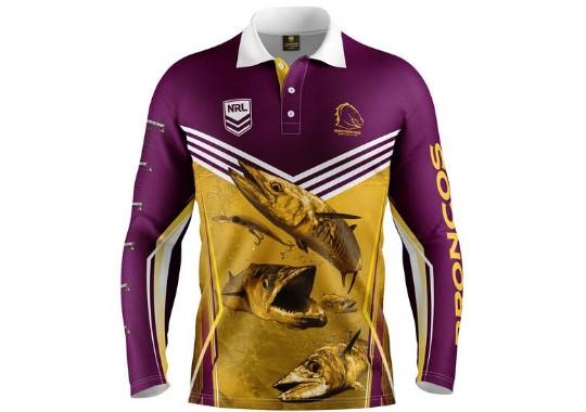 Brisbane Broncos Kids Fishing Shirt – Footy Focus 02921f4b8